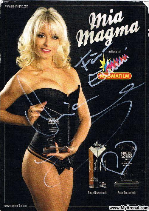 Mallorca Urlaubsbild - Autogramm von Mia Magma Closing 2012 (2)