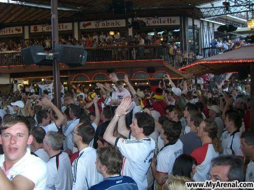 Mallorca Urlaubsbild - EM 2008 Bierkönig Deutschland - Portugal