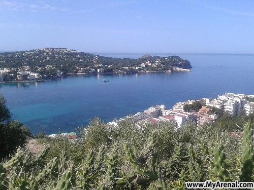 Mallorca Urlaubsbild - Santa Ponsa von oben,