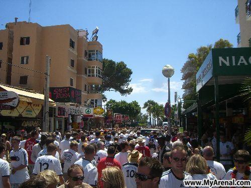 Mallorca Urlaubsbild - Schinkenstraße Mallorca nach Deutschland:Serbien