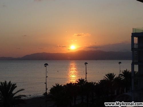 Mallorca Urlaubsbild - Sonnenuntergang an der Playa de Palma